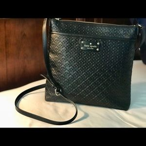 Kate Spade embossed signature cross body